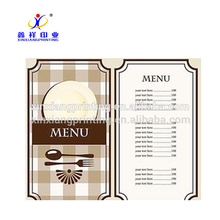 Customized Size!Colorful Wall Poster Printing Data Sheet Menu List