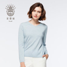 Sweater V Neck Sweater Wanita