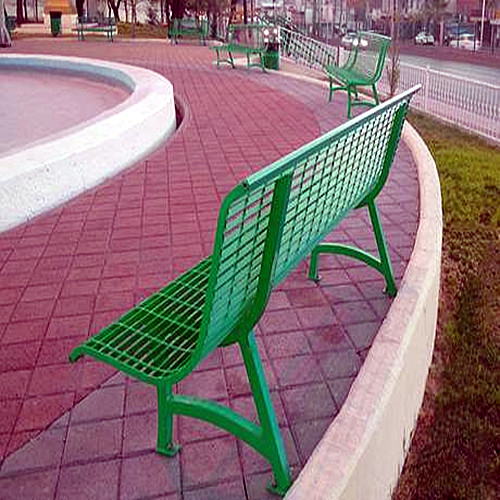 Steel Grid Benches and Chairs