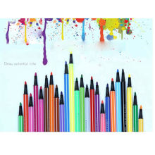 Kids rainbowcolors plotter drawing digital pen