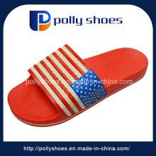 Factory Men Slipper EVA Red Sandal No Slip Outdoor Logo Strap Shoe