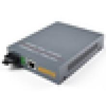 10/100/1000M 1310/1550nm SM Simplex WDM Bidirectional Gigabit Fiber Optic to RJ45 Media Converter