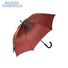 Вся Рамка Стеклоткани Нервюры Сияющей Эпонж Ткань Сильное Качество Индивидуальный Дизайн Логотипа Красный Большой Непрерывной Прямой Зонтик