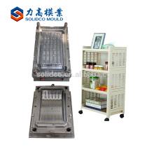 molde plástico da caixa de armazenamento da gaveta, modelagem por injecção, molde empilhável da caixa de armazenamento