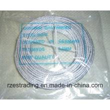 Galvanizado de alta qualidade 7 * 7 cabo de fio de aço