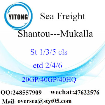 Shantou Port Sea Freight Shipping ke Mukalla