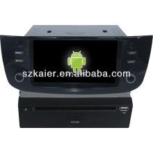 Reproductor de DVD del coche Android System para Fiat Linea con GPS, Bluetooth, 3G, iPod, juegos, zona dual, control del volante