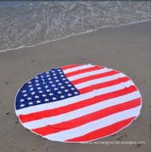 Toalla de playa redonda impresa circular