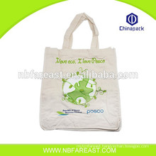 Economic printing shopping pure linen bags fashion design