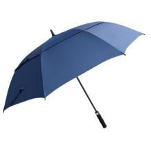 Parapluie de golf promotionnel longue tige droite double pare-soleil