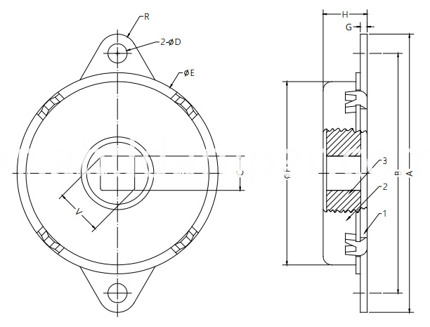 Damper Drawing For Glove Boxes