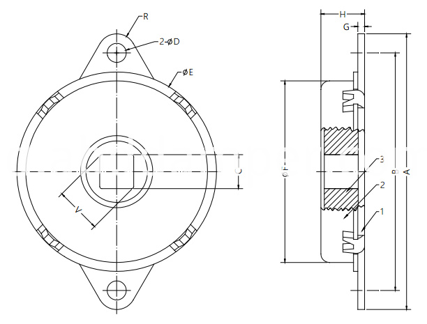 Disk Damper for Auditorium Seating