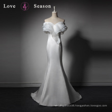 LSQ025 Unique mermaid white ladies sexy prom photo girls photo without cloth white evening dress