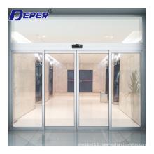 Deper commercial interior glass door automatic sliding door system with dunker motor
