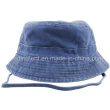 Lavado correa de cuello ajustable Deportes Fisherman Bucket Hat (CSCBH9421)
