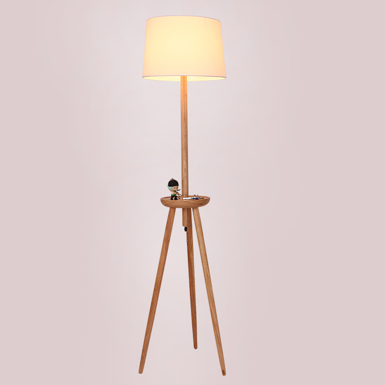Led Wooden Floor Lamp