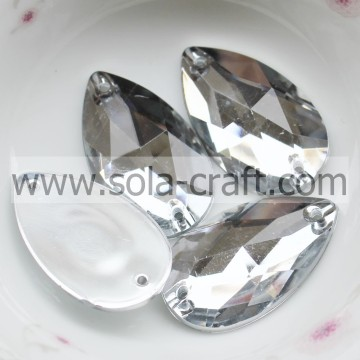 Online Sale Fashion Plastic Mirror Effect Diamond Teardrop Bead