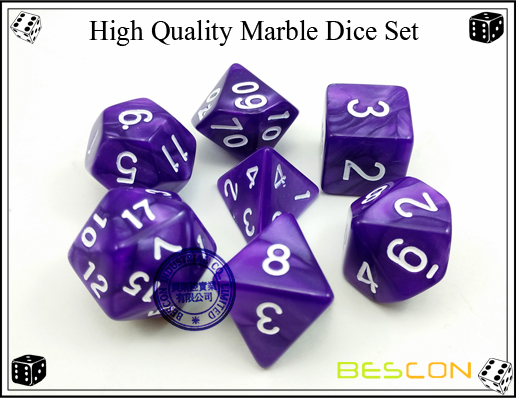 High Quality Marble Dice Set-2