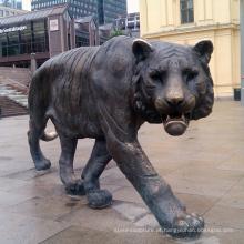 Estátua de bronze grande jardim gato decoração para venda