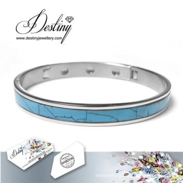 Destino joias cristais Swarovski cerâmico pulseira