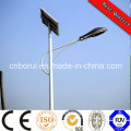 Lumière solaire élevée intégrée solaire solaire de réverbère de LED / lumières solaires de jardin en gros / lumière solaire extérieure