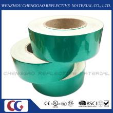 Fita de segurança verde auto adesivo cobertura reflexiva (C1300-OG)
