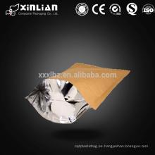 Kraft laminado pálido embalaje de papel de aluminio stand up bolsa con cremallera / humedad de papel de aluminio de aluminio de embalaje stand up bolsa