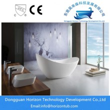 Acrylic Oval Center Drain Bathtub Berdiri Bebas