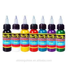 7 Color 1OZ Complete Set Tattoo Ink Pigment kit cheap tattoo ink kits/color king tattoo ink/free tattoo ink