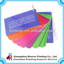 Company printed children playing paper cards