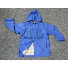 La plus récente conception de la veste de pluie en plastique pour enfants