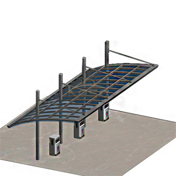High Snow Load Aluminium Carport polykarbonat arktak