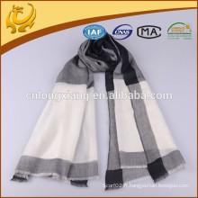 Fils de style classique à carreaux teints 100% écharpe en cachemire pur, Vente en gros Echarpes d'hiver à la mode personnalisée