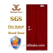 Alta calidad BS 476 30/60/90 minutos puerta de madera de fuego tasa