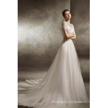 2017 Trendy Fit and Flow Wedding Gown