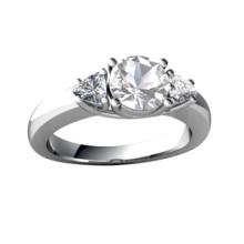 Anneau de fiançailles de mariage en pierre fausses en diamant CZ