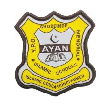 Cheap Textile Patches Customized Name Logo Machine Woven School Badges for Uniform
