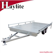 Fully Galvanized Tandem Flat Deck Trailer Fully Weld Structure for sale