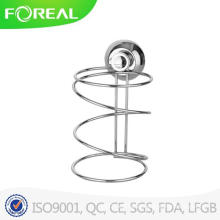 Metal Chromed Blower Rack with Suction Hook