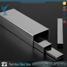 25 * 25mm 304 Pipe rectangulaire en acier inoxydable pour décoration d'intérieur