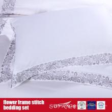 Flower Frame Stitch Juego de cama de diseño clásico