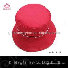 Sombrero rojo de moda del cubo 2013 nuevo diseño barato para la venta algodón