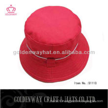 fashionable red bucket hat 2013 new design cheap for sale cotton