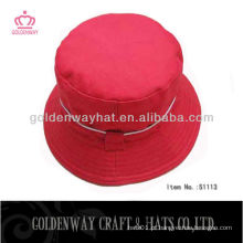Chapéu de balde vermelho elegante 2013 novo design barato para venda algodão