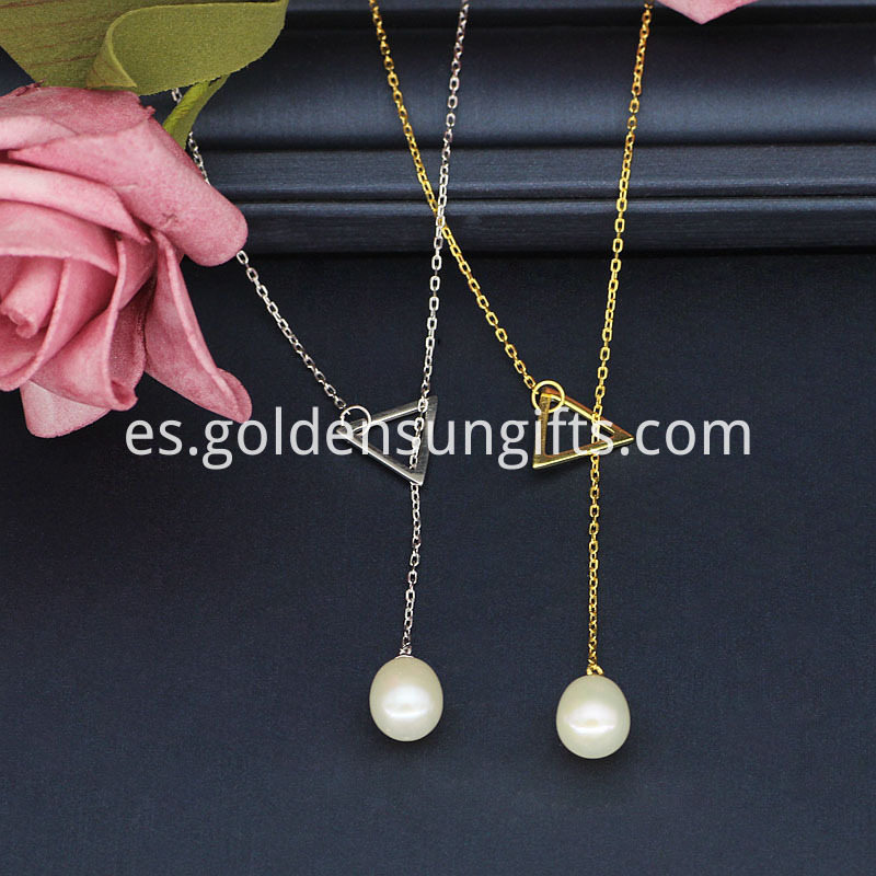 9-10MM White Pearl Pendant Necklace