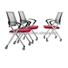 Neuer Entwurfsbüroversammlungsstuhl mit Nylonmasche / stapelbarem Stuhl