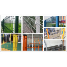 3D Wire Mesh Fence Panel med Dovetalil Post