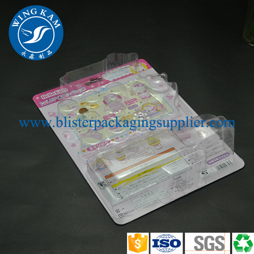 Hot sealed Bister Packaging Blastic Custom