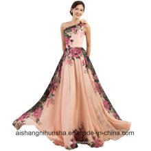 Вечерние Платья Длинные Дизайн Цветок Печать Летом Шифона Платье Выпускного Вечера