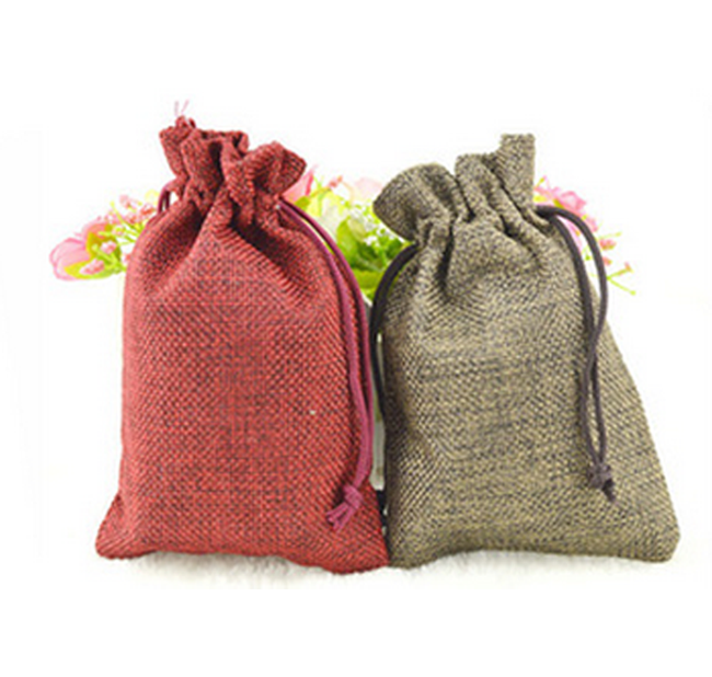 linen bag drawstring logo